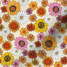 Vintage Patterns, Vintage Prints, 60s Patterns, Vintage Fabrics, Vintage Pattern Design, Vintage Wallpaper Patterns, Vintage Floral Fabric, Retro Fabric, Retro Wallpaper