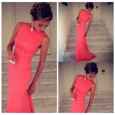 Love that long bright dress
