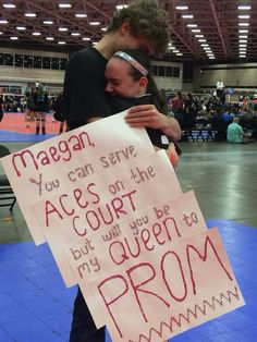 My amazing volleyball promposal