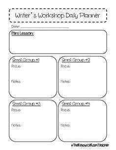 Reader's & Writer's Workshop Daily Planner