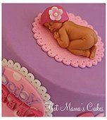 Hot Mamas Cakes   Baby Shower Sleeping baby girl