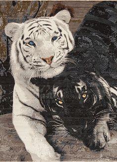 Animal Kingdom - Tigers - Samad - Hand Made Carpets Tiger Home, Pet Tiger, Black White Rug, Black Rugs, Home Rugs, White Area Rug, Modern Rugs, Throw Rugs, Animal Kingdom