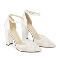 Wedding Heels, Bridal Sandals, Comfortable Wedding Shoes for Bride - Kate Whitcomb Shoes Wedding Shoes Block Heel, Wedge Wedding Shoes, Wedding Shoes Bride, Bride Shoes, Ivory Wedding, Lace Bride, Outdoor Wedding Shoes, Winter Wedding Shoes, Block Heels