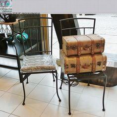 CADEIRAS DE FERRO (par)..... para usar na em qualquer divisão da casa ou até no exterior......QUAL A SUA OPINIÃO sobre estas nossas cadeiras? (disponíveis) https://www.facebook.com/objecta.segunda.mao/