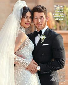 Priyanka Chopra and Nick Jonas - Hola! Magazine Mexico, December Priyanka Chopra Style, Outfits and Clothes. Celebrity Wedding Dresses, White Wedding Gowns, Celebrity Weddings, Gown Wedding, Priyanka Chopra Wedding, Hindu Wedding Ceremony, Bollywood Celebrities, Celebrity Couples, Divas