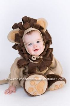 baby lion halloween costume. this was home made? are you kidding me? ugh i wish i could use a sewing machine lol