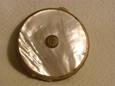 old vintage stratton compact mother of pearl