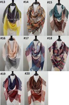 09c7f8486ff5f2 Blanket Scarf, Plaid blanket scarf, Tartan plaid scarf, Pashmina scarf,  Tartan s