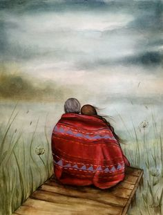 Œuvre d'art originale la couverture rouge par claudiatremblay