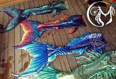 Some of my top favorite Merbella tails in one photo! These tails were used in the 2017 Weeki Wachee Mermaid Calendar. Finfolk Mermaid Tails, Mermaid Fin, Mermaid Tale, Tattoo Mermaid, Real Life Mermaids, Mermaids And Mermen, Fantasy Mermaids, Sirens, Mermaid Tails For Sale