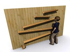 Water Play Wall | Bamboo. Could build a multi-use wall for water play, wall ball, chalk murals, and more.