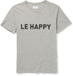 Hentsch Man - Le Happy Printed Cotton T-Shirt|MR PORTER 75