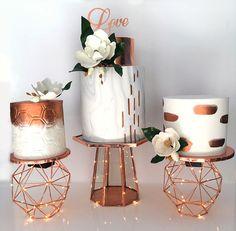 Resultado de imagem para geometric  rose gold wedding