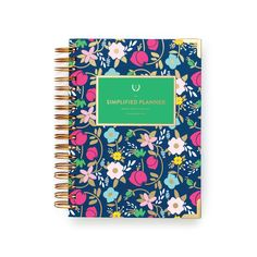 2017 Simplified Planner® Daily Fancy Floral  Flower Planner   Day Planner