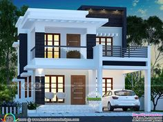 25 lakhs cost estimated double storied home is part of Kerala house design - 3 bedroom, 1755 square feet lakhs cost estimated double storied home by Dream Form from Kerala 2 Storey House Design, Bungalow House Design, House Front Design, Duplex Design, Two Storey House Plans, Two Story House Design, Duplex House Plans, Modern Small House Design, Modern Exterior House Designs