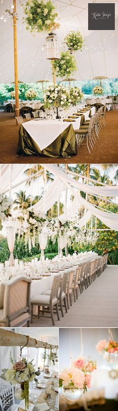 Ideas to decorate tables at a wedding Small Wedding Receptions, Outdoor Wedding Reception, Marquee Wedding, Wedding Reception Decorations, Wedding Centerpieces, Wedding Table, Tent Decorations, Wedding Ideas, Wedding Show