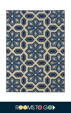 A beautifully patterned interplay of blues on an ivory background, the Marisela rug is a beautiful addition to your home.