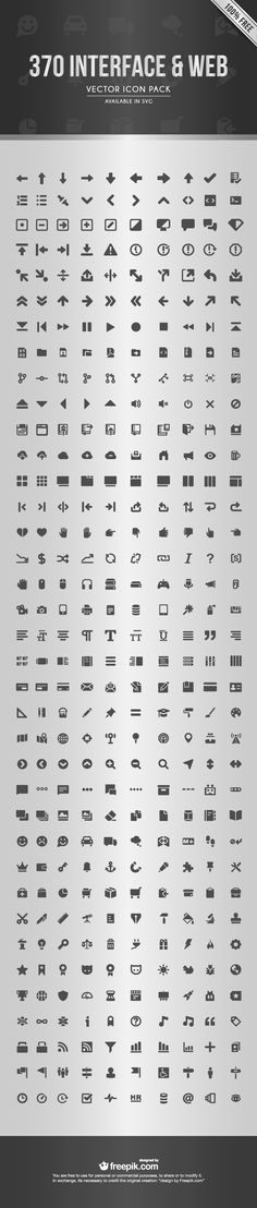 Freebie: The Web Interface Icon Set (370 Icons, SVG & AI)
