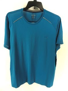 CALVIN KLEIN NEW MENS $40 BLUE PERFORMANCE ATHLETIC SHIRT STRETCH T-SHIRT XL #CalvinKlein #BasicTee