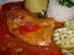 Královské vepřové plátky recept | sRecepty.CZ Meat, Chicken, Cubs