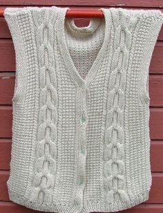 Men's Cable Knit Vest