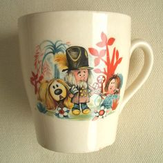 vintage Magic Roundabout cup we used to get great cups with Easter eggs 1970s Childhood, My Childhood Memories, Childhood Toys, Childhood Characters, Vintage Cups, Vintage Love, Magic Roundabout, My Memory, Old Toys