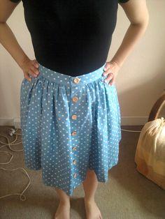 Sarah-Lou: My Polka Dot Picnic Blanket Skirt