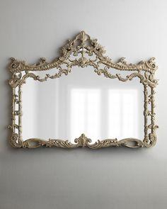 Ornate Horizontal Whitewash Mirror - Horchow