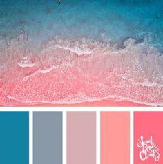 25 summer color palettes color scheme pallette combination c Summer Color Palettes, Color Schemes Colour Palettes, Living Room Color Schemes, Colour Pallette, Sunset Color Palette, Summer Colours, Color Palette Blue, Pink Summer, Coral Color Schemes