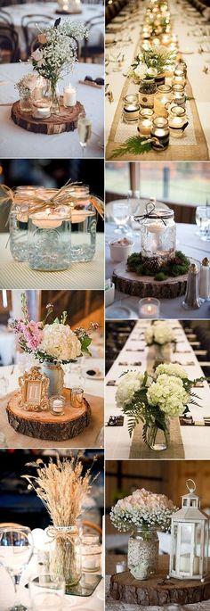 gorgeous mason jars wedding centerpiece ideas #weddingideas #wedding #weddingcenterpieces #weddingdecorations