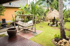 Garden view of one of our villas.