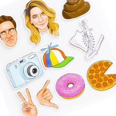 I'm so in love with these stickers😍 I reallllllly want them Youtuber Merch, Youtubers, Sugg Life, Zoe Sugg, Cute Planner, Zoella, Aesthetic Stickers, Laptop Stickers, Printable Wall Art
