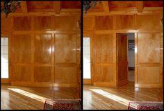 Secret door to hidden room