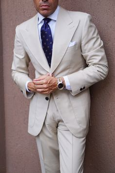 Beige Suits For Men, Navy Suits, Mens Fashion Suits, Mens Suits, Men's Fashion, Melbourne Races, Beige Outfit, Designer Suits For Men, Summer Suits