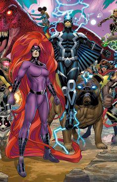 "Inhumans ""The ruining of the Inhumans"" Marvel Comics Arte Dc Comics, Dc Comics Superheroes, Marvel Comics Art, Marvel Comic Universe, Comics Universe, Marvel Heroes, Marvel Comic Character, Marvel Characters, Super Marvel"