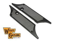 Wyatt Gatling Saddlebag Face Plate Black Harley Davidson FLT 1993-2013 Bagger #VTwinManufacturing