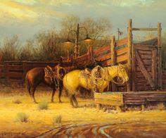 Jackson Hole Art Auction: Cowponies. G Harvey.