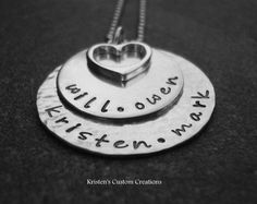 Mother's Day Hand Stamped Jewelry Double by klacustomcreations, $59.90