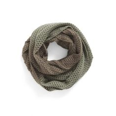 BP. Ombre Infinity Scarf ($4.69) ❤ liked on Polyvore featuring accessories, scarves, olive multi, chunky knit circle scarf, infinity scarves, tube scarf, thick knit infinity scarf and thick knit scarves
