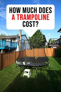 how much does a trampoline cost? You can spend a few hundred or a few thousand dollars on your typical backyard trampoline. If you are opting for a toddler trampoline,… Spring Free Trampoline, Springless Trampoline, Toddler Trampoline, Rebounder Trampoline, Trampoline Workout, Indoor Bounce House, Trampolines For Sale