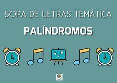 Sopa de letras interactiva: palíndromos #sopadeletras
