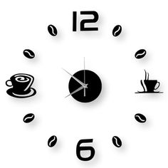 (2pcs) Coffee Clock Plastic Mirror Wall Sticker DIY Home Decal #onlineshopping #lazadaph #lazadaphilippines #onlineshoppingphilippines