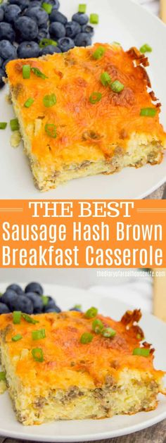 Simple and classic Sausage Hash Brown Breakfast Casserole. This one is awesome and so easy to make, you are going to love it. Sausage Breakfast Pizza Recipe, Sausage Hashbrown Breakfast Casserole, Stuffing Casserole, Bean Casserole, Chicken Casserole, Breakfast For Dinner, Best Breakfast, Christmas Breakfast, Brunch Recipes