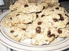 Sugarless banana oat biscuits