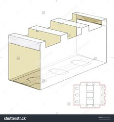 Carrier Box With Die Cut Template Stock Vector Illustration 336150074 : Shutterstock