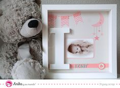 Cómo hacer un cuadro de bebé niña en 10 pasos con la colección Rosa Bebé de Anita y su mundo  #Tutorial #RegalosPersonalizados #Regalosbebé