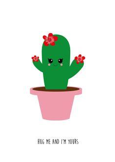 Postkaart hug me cactus Postkaartcactus hug me is een grappige kaart om zelf te houden of iemand te geven die je lief hebt.  Wil je nog meer kaarten zien? Bekijk de hele ...