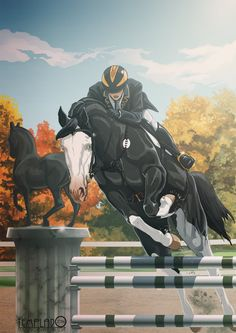 Draw Horses Shine for me, Cloud by Templado - Cute Horses, Pretty Horses, Beautiful Horses, Horse Drawings, Animal Drawings, Art Drawings, Drawing Art, Pet Anime, Arte Equina