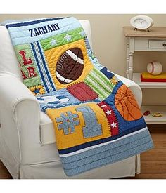 Image result for sports theme coed baby shower baby shower new shopping for a personalized gift for baby this attractive baby quilt features a cool sports negle Image collections