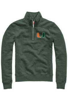 Product: University of Miami Women's 1/4 Zip Sweatshirt